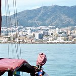 Sailing off Benalmadena