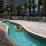 The lazy river / pool/ hot tub area at Shorecrest II