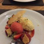 Pudding, Strawberry Cheese cake