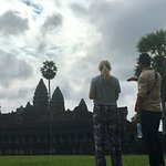 Narith guiding us through Angkor Wat
