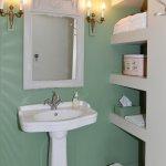 """Salle de bain de la chambre """"Cantecolombe"""" du château du bois de la lune"""