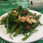 Water spinach with garlic