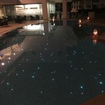 Night view of the main pool
