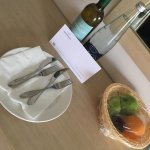 Complimentary wine, water & fruit upon arrival