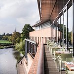 View of the River Avon from the RSC Rooftop Restaurant.