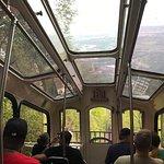 View inside tram.