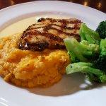 Grilled Chicken Mashed Sweet Potatoe Broccoli