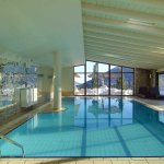 Indoor Pool with superb views to Mount Parnassos
