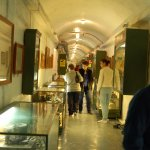 Inside the tunnel of the museum