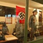 a German occupation display of a wireless station.