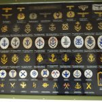 various badges and patches