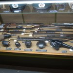 a display of military weapons