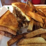 Patty Melt with hand-cut french fries