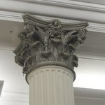 Detail of one of the columns on the ground floor