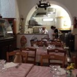 Looking back to the kitchen in Il Teatro