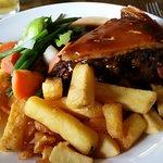 steak and ringwood 49er pie- very filling!