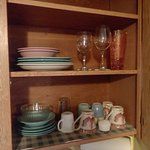Crockery and glassware.