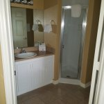 One of the guest bathrooms