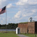 Old Fort Jackson is the oldest standing brick fort in Georgia.
