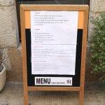 Pizarra menú - Restaurant GOTIM (L'Escala-Girona)