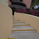 stairs to our rooms and adult pool