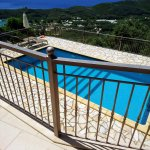 View from highest villa towards private pool