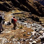 on the Inca Trail towards Huancacalle