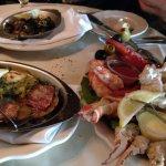 Seafood Salad, Oysters, Escargot