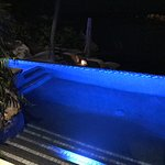 Private plunge pool at night with my suite