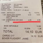 Auténtico robo, 5,06€ (iva incluido) por un litro de agua (y solo agua). Podrían al menos inclui