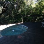 Private pool which baboons sometimes frequent!