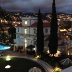 View of Funchal and the mountain from the hotel at night