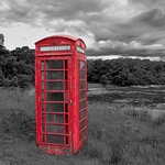 THe phone box at Glenuig.