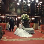 Pre-wedding photos in the Hotel Geneve lobby