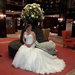 Our beautiful daughter in the Hotel Geneve lobby pre-wedding photos