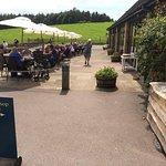 Dining alfresco at Chatsworth