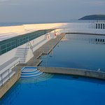 The Jubilee Pool is an outdoor sweater lido built into the seafront in Penzance.