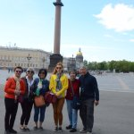 One of our photos with our tour guide Natasha in St. Petersburg.