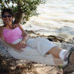 Resting after long paddle in a hammock besides Florida Bay.