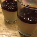 White chocolate pannacotta and candied berries