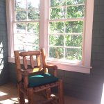 Charming rocking chair on the porch