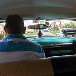 Taxi to Salsa! What a car! 10/10