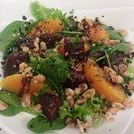 Orange beetroot salad - on our dinner menu
