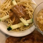 Triple appetizers!! Hot & Sour, Onion Cake and Cold Noodle with Peanut Sauce