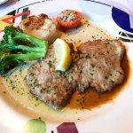 Les Folies Brasserie - veal piccata w/ lemon butter sauce