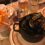 Mussels with Frites - yum!
