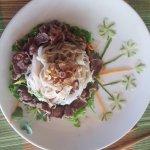 Herb, beef & noodle salad