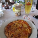 Amazing pizza & a cold beer after a hike in the Schwarzwald.