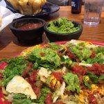 Pork Carnita Cheese Crisp and Beef Taco Salad