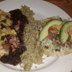 Beef Tostada and Green Chilli Chicken Enchilada